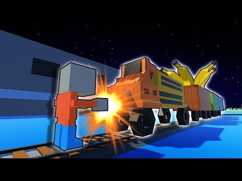 Brick Rigs Train comes to Tiny Town! - Tiny Town VR Gameplay - Building & Creative Game!