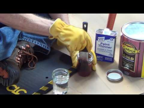 Cleaning Paint Brushes with Mineral Spirits