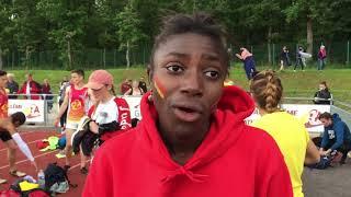 Sokhna Diop après le 400m des Interclubs