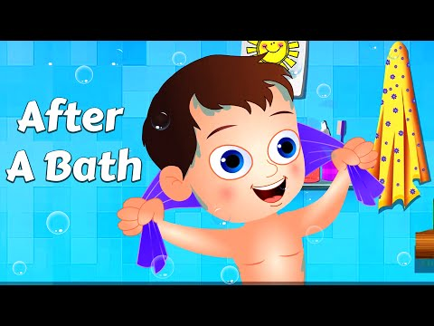 "After A Bath - Nursery Rhyme Karaoke with Lyrics By ""TINY DREAMS KIDS"""