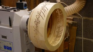 Making The One Ring (LOTR) - Woodturning