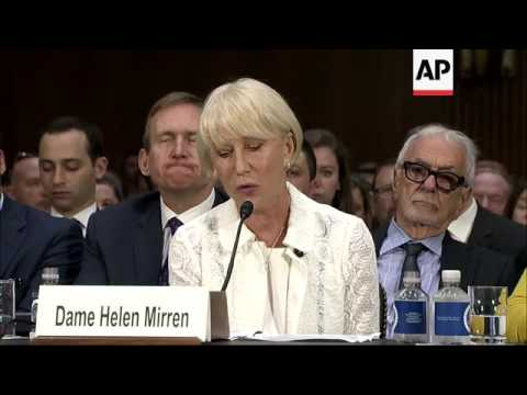 Helen Mirren testifies in a Senate hearing about Nazi-stolen art