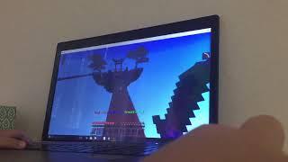 Aden Playing Minecraft
