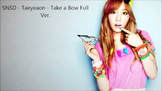 SNSD - Taeyeon - Take a Bow Full Ver.