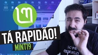 ESTOU USANDO O NOVO LINUX MINT 19 - REVIEW