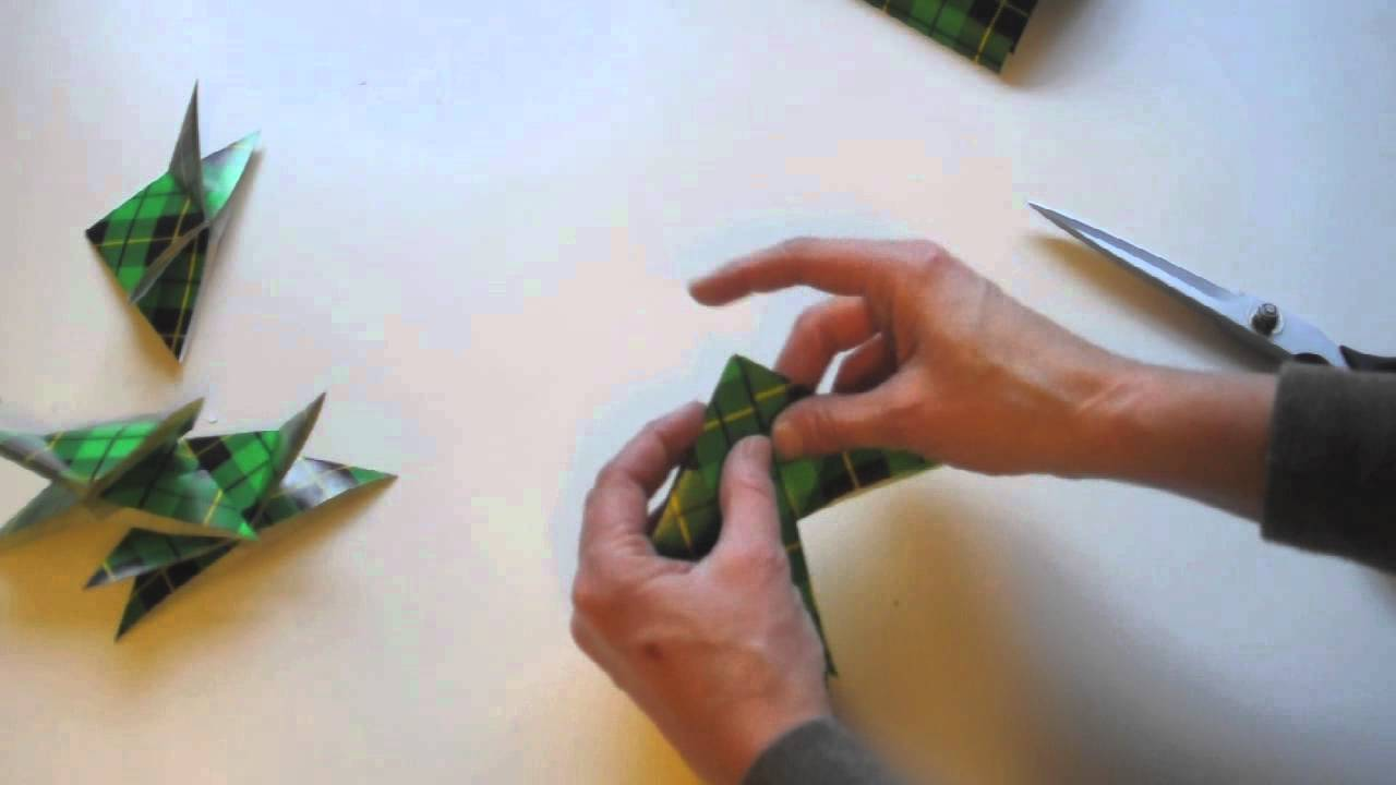 Make Wrapping Paper Origami Christmas Ornaments - YouTube