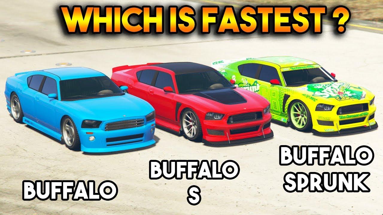 GTA 5 ONLINE : BUFFALO VS BUFFALO S VS BUFFALO SPRUNK (WHICH