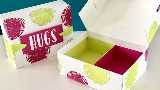 Lovely Inside and Out Partitioned Gift Box Video Tutorial - Stampin' Up New Catalogue Week