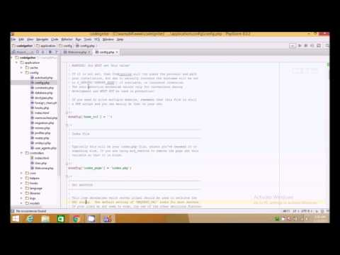 How to REMOVE index.php from Codeigniter URL by .HTACCESS ( Tutorial 4 )