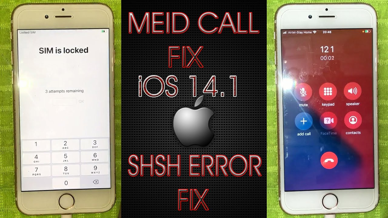 [Windows]Call FIX MEID iOS 14.1 With 1000% Tested Tool,LIFETIME USE WITH PIN LOCK SIM.Fix SHSH Error