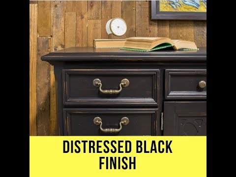 How To Get The Distressed Black Finish