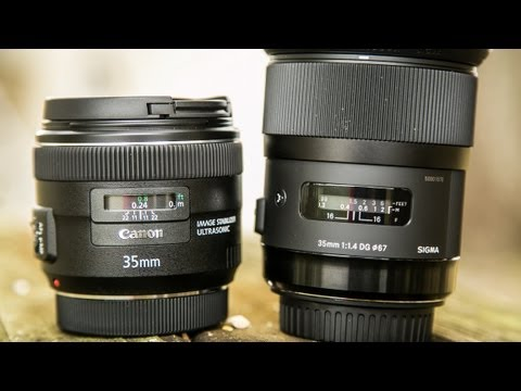 Old Canon 35mm 1.4L EF USM VS New Canon 35mm 1.4L ii BR EF USM .