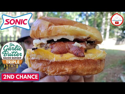 Sonic Triple Jr Garlic Butter Bacon Burger Review 2nd Chance Youtube