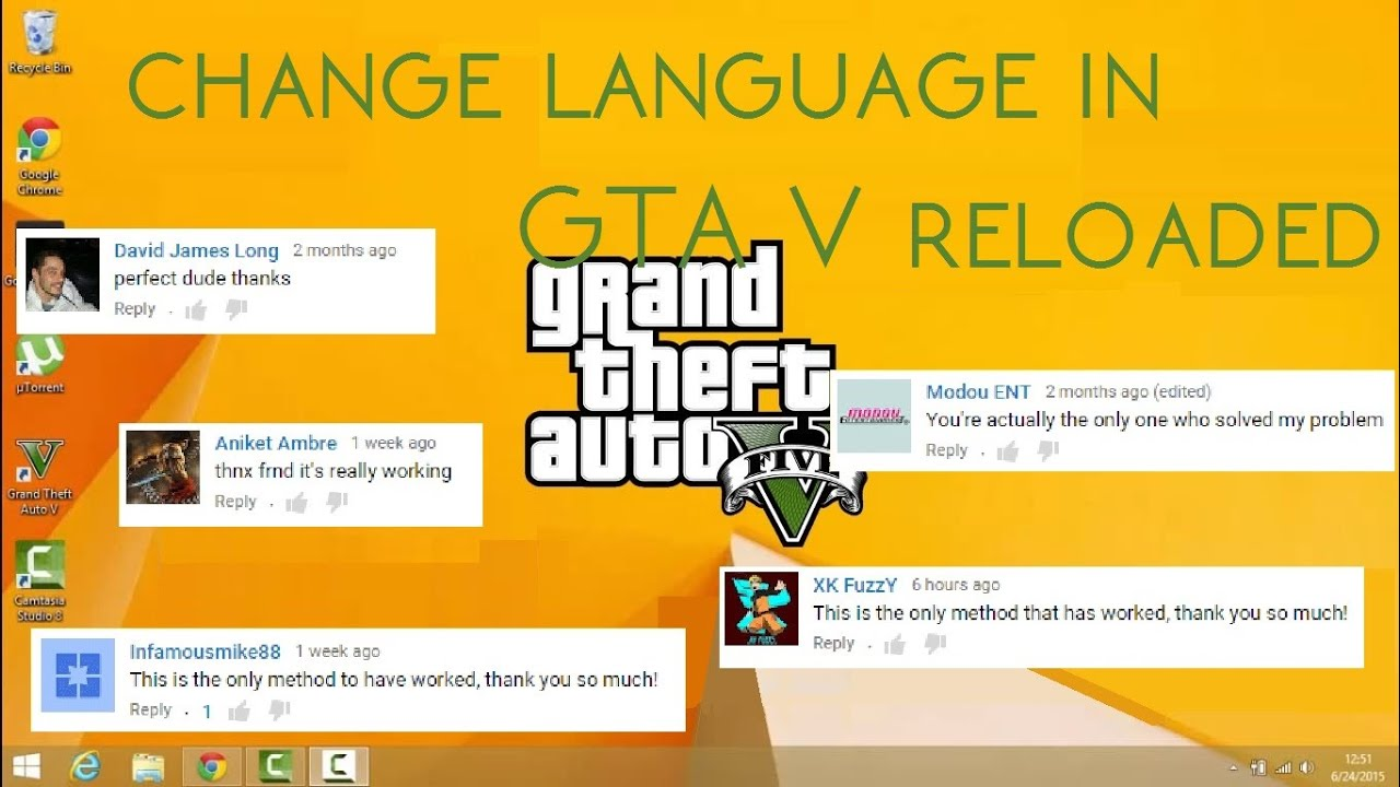 Change language in Grand Theft Auto V Reloaded / 3DM by ThatsGeorge