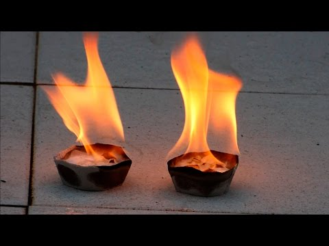 How to make solid fuel deposits for survival