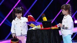 Mihai Morar, împreună cu fetițele sale, Mara și Cezara, au făcut spectacol de magie la Next Star!