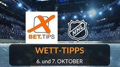NHL Wett-Tipps zum 6.10. und 7.10. - Eishockey Vorhersagen und Prognosen