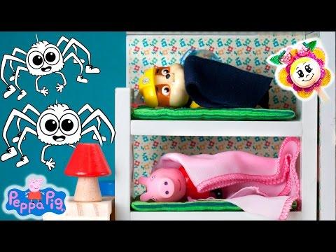 PESADILLA DE LA PATRULLA CANINA EN CASA DE PEPPA PIG! Pepa, Rubel y George no pueden dormir! Arañas