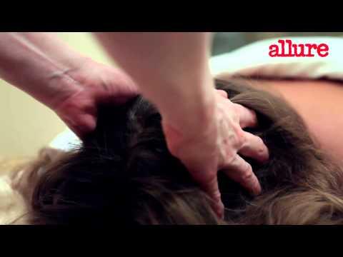 Массаж шеи в HD качестве, вы смотрите видео уроки про массаж шеи и головы на