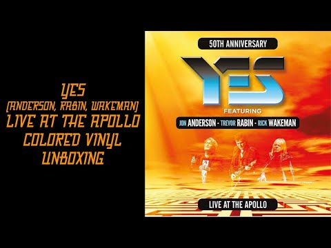 YES (ANDERSON, RABIN, WAKEMAN) - LIVE AT THE APOLLO - COLORED VINYL - UNBOXING
