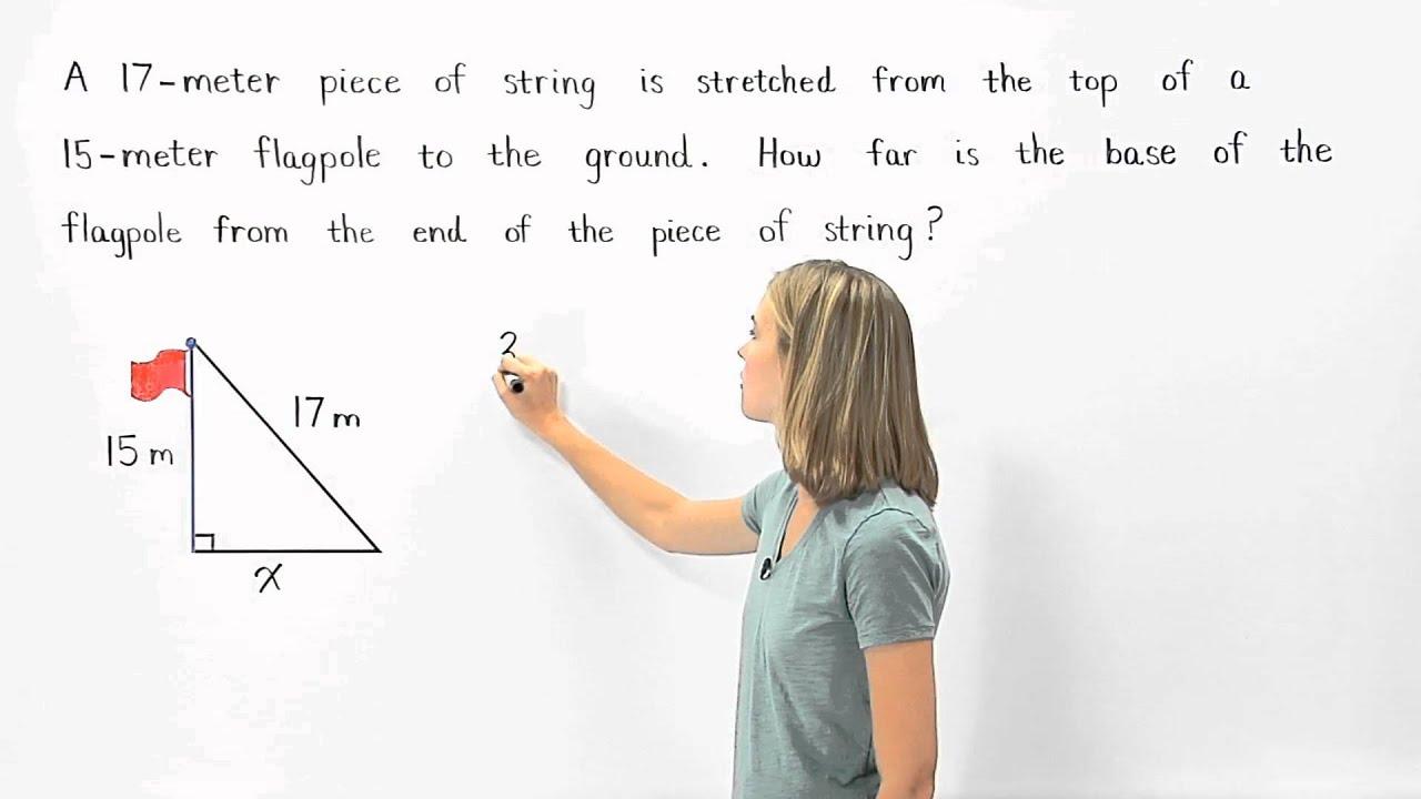 Pythagorean Theorem Word Problems – Pythagorean Theorem Word Problems Worksheet with Answers