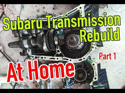 How to rebuild a Subaru Transmission at Home - Part 1: Teardown - Dirtcheapdaily : Ep.20