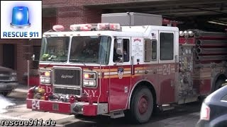 FDNY Fire Response - E24, NEW tiller L5, E33, Purple K unit