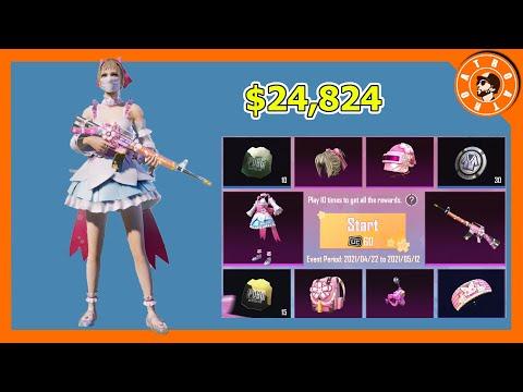 سحب بطاقات ساكورا الثلج بقيمة 24,824$ 😍 و توزيع شدات للمشاهدين🎁 PUBG MOBILE