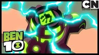 Materia Gris Lucha Con Robots Malvados | Cazarecompensas| Ben 10 en Español Latino | Cartoon Network