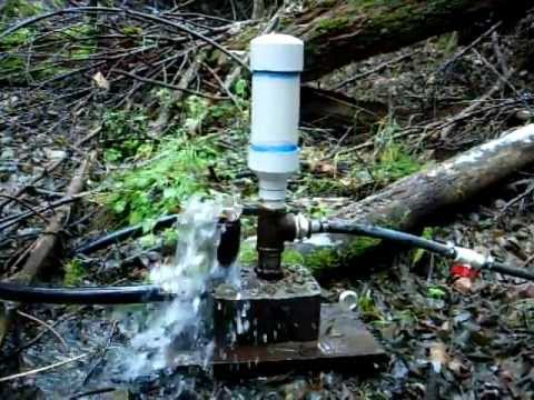 Hydraulic Ram Pump Off Grid Water Pump Youtube