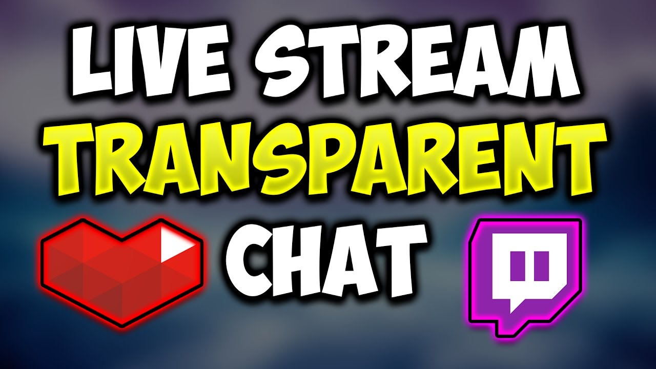 How To Get A Transparent Chat In Obs Live Streams! (tutorial)