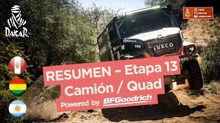 Resumen - CamionesCuadriciclosSxS - Etapa 13 San Juan  Crdoba - Dakar 2018