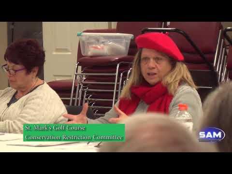 Southborough Conservation Commission Public Forum on St. Mark's Golf Course December 11, 2017