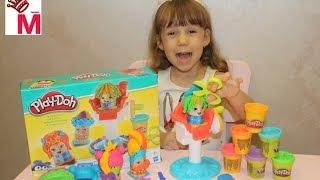 Игровой набор Play-Doh Сумасшедшие прически (B1155) обзор и распаковка лепим и играем!
