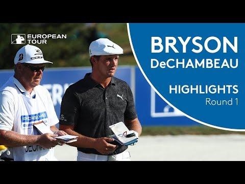 Bryson DeChambeau Highlights | Round 1 | 2018 Porsche European Open