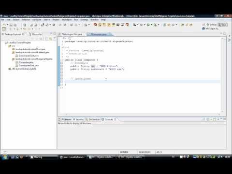 Java Tutorial 05.1 – Objekte erstellen