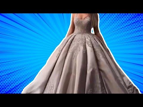 Шикарное длинное свадебное платье в пол