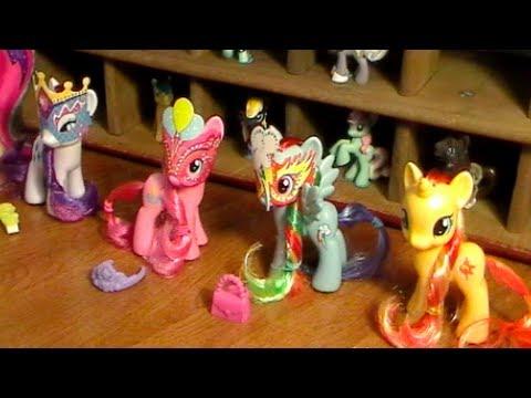 My Little Pony SUNSET SHIMMER & Crystal Princess Celebration Ponies (2013) Review! by Bin's Toy Bin