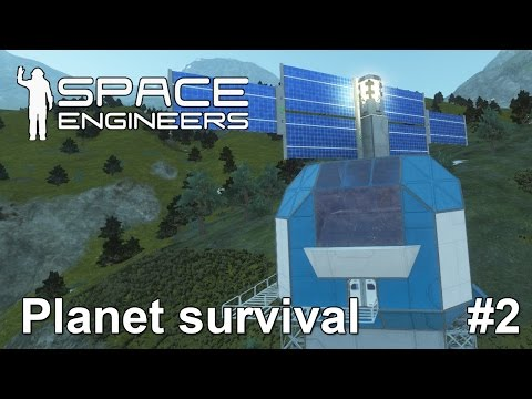 Space engineers: Solar array and exploration ship