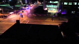 Caught on camera Shots fired at Dallas police headquarters