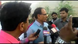 MP CM Shivraj Singh Chouhan during his visit at his farmhouse in Vidisha