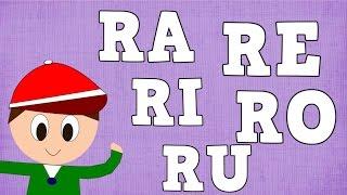 Sílabas RA RE RI RO RU - Syllable with R -  Vídeos para niños