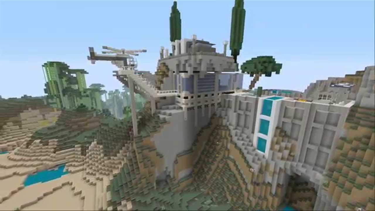 Minecraft Mansions Ep. 1 - Modern-Styled Cliffside Mansion - YouTube
