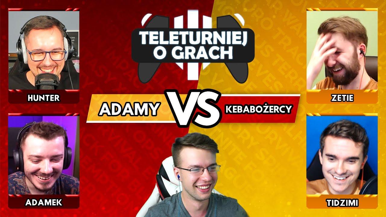 Teleturniej o Grach 🎮 @Hunter i @AdameK vs @TIDZIMI i @Zetie [S1E1]