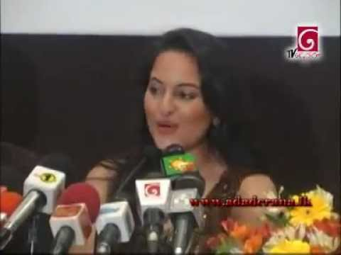 Bollywood actress Sonakshi Sinha arrives in Sri Lanka