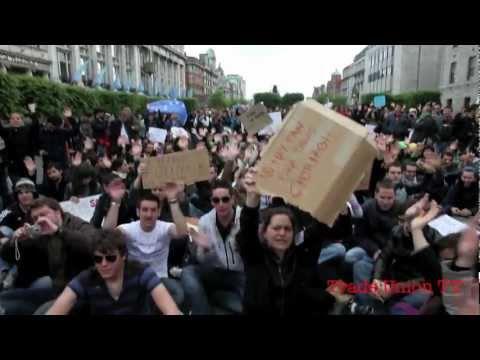 Ya Basta! Solidarity with #spanishrevolution in Dublin 21st May 2011