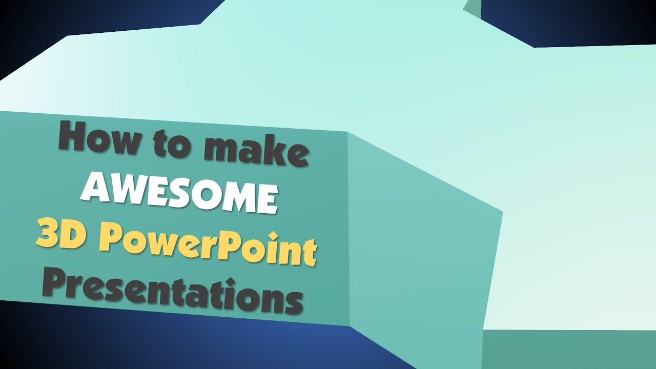 3D Powerpoint Template | Create An Awesome 3d Powerpoint Presentation Youtube