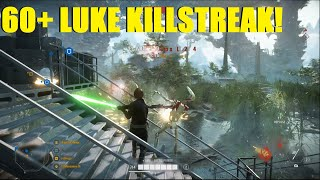 Star Wars Battlefront 2 - Luke Skywalker the Wookiee lover! | Luke Skywalker Killstreak!