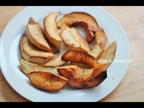 Jamaican Recipes: How to Roast and Fry Breadfruit Video
