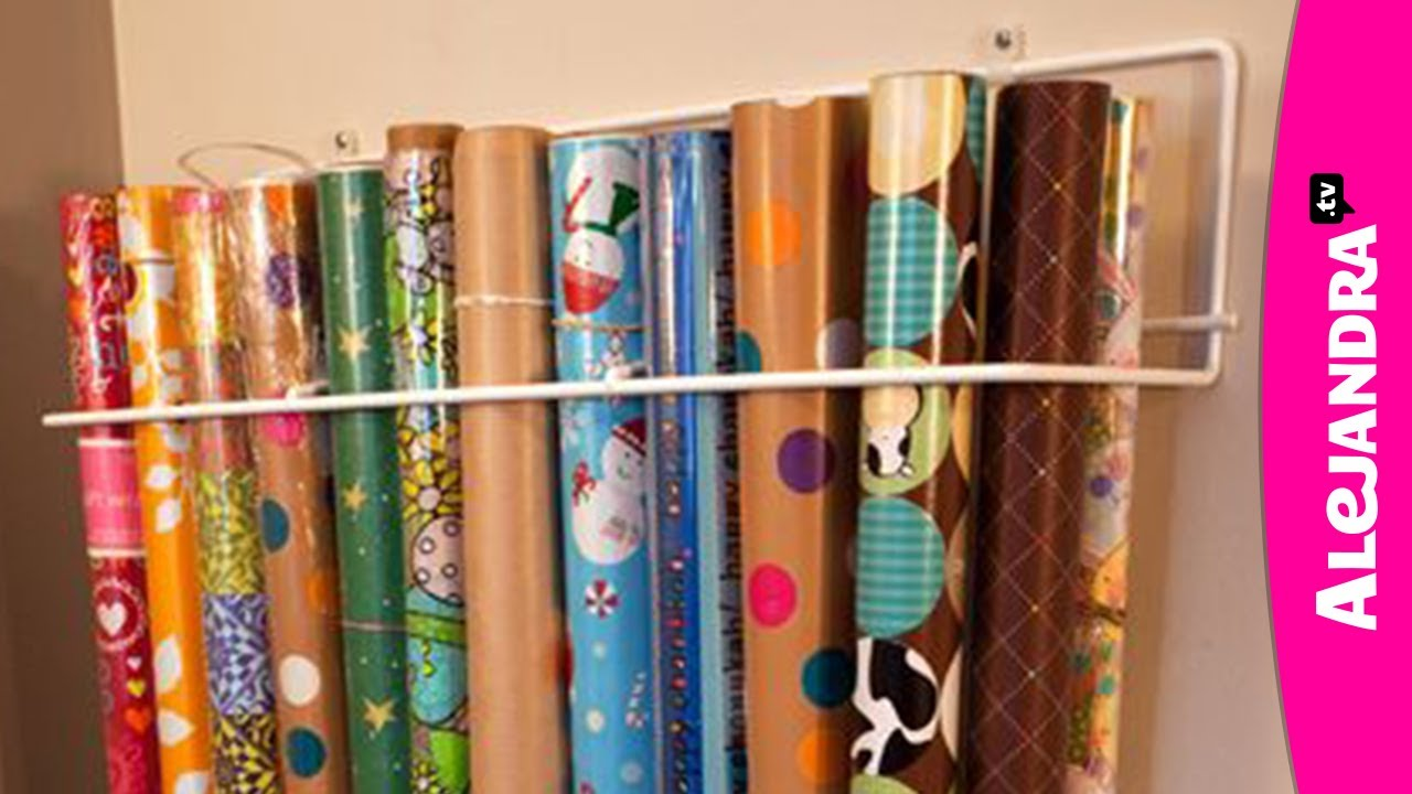 How To Organize Wrapping Paper Youtube